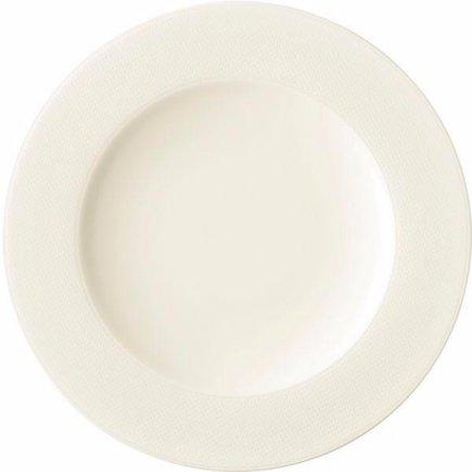 Mělký talíř Seltmann Diamant 22,5 cm, krémovobílý, 6 ks