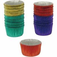 Formičky na pralinky hliníkové 20 ks, různé barvy