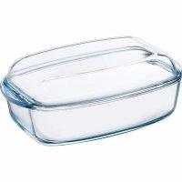 Pekáč varné sklo Pyrex s poklicí 11x38x22 cm, hranatý