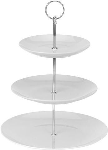 Etažér 3-patrový Gastro 35 cm, bílý