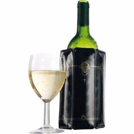 Chladič na víno Vacu Vin Aktiv, černý s dekorem