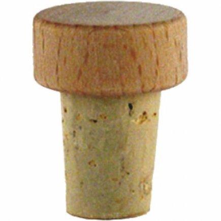 Špunt korkový dřevěná hlavička, průměr 15 mm, pro láhev 222208013