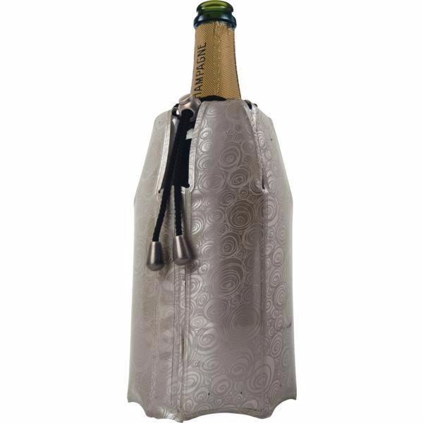 Vacu Vin Chladící obal na sekt - šampaňské Aktiv, stříbrný