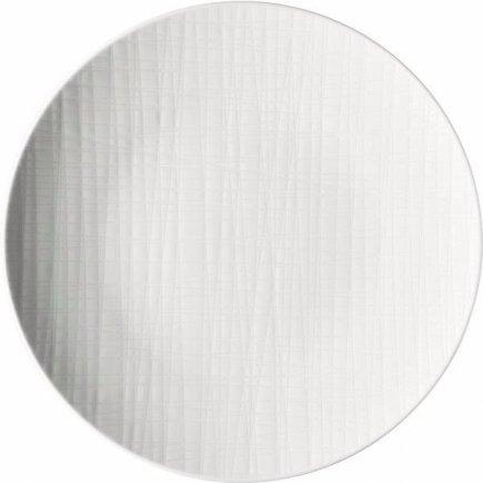 Talíř mělký Rosenthal Mesh 24 cm, bílá