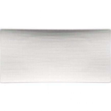 Talíř mělký Rosenthal Mesh 26x13 cm, bílá