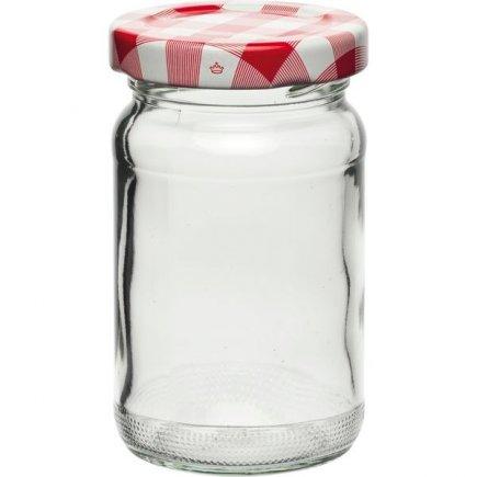 Zavařovací sklenice 107 ml, víčko káry
