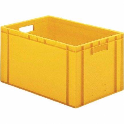 Přepravka plast 60x40x21 cm, žlutá