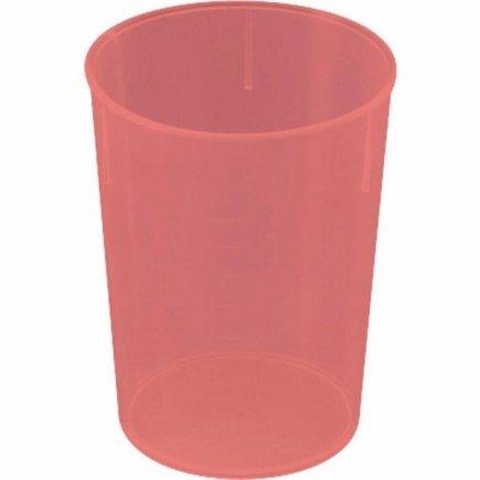 Kelímek plast Waca 250 ml, červený