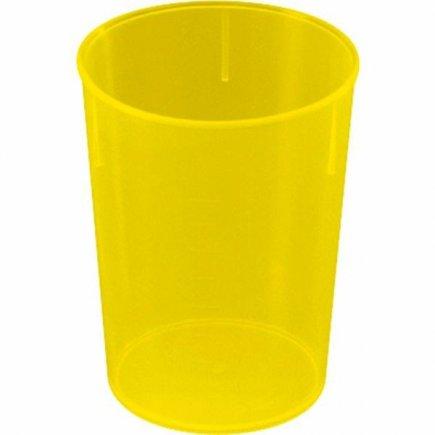 Kelímek plast Waca 250 ml, žlutý