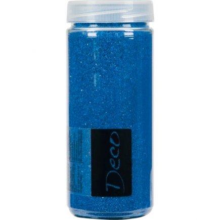 Dekorační barevný písek v dóze 0,5 mm, modrý