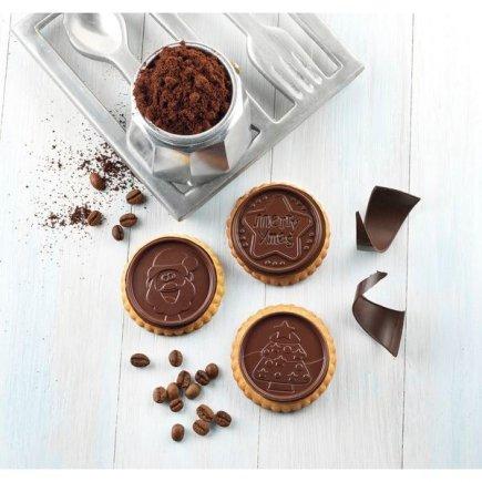 Sada na výrobu lepených sušenek Silikomart Cookie Vánoce