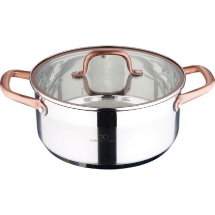 Hrnec s pokličkou nerez Gastro Infinity Chef 24 cm, indukce