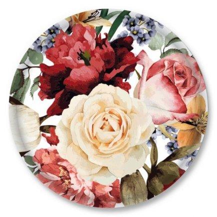 Šroubovací víčko Gastro 66 mm 10 ks, dekor růže