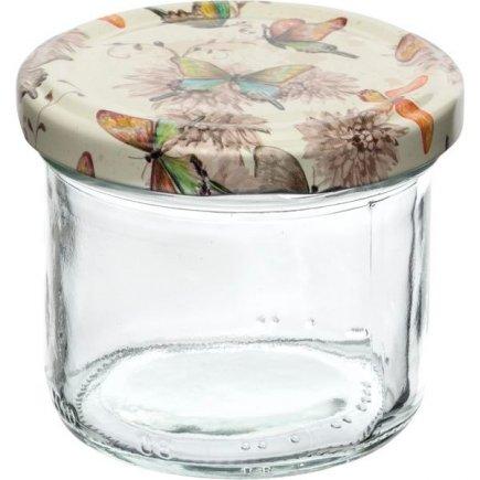 Zavařovací sklenice Gastro 120 ml, víčko dekor motýlci