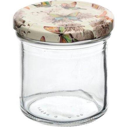 Zavařovací sklenice Gastro 167 ml, víčko dekor motýlci