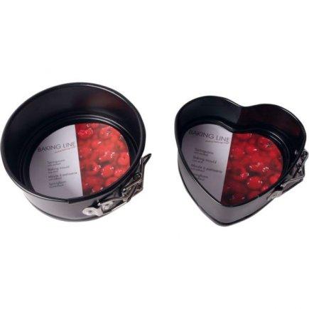 Forma dortová Gastro 12,5 cm, kulatá / srdce