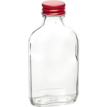 Kapesní láhev placatka 100 ml, šroubovací uzávěr