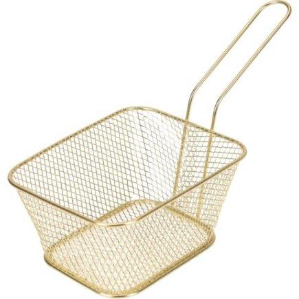 Košík pro servírování jídla Gastro 14x11x7 cm, zlatý