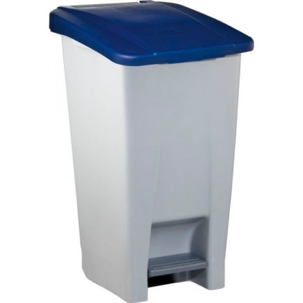 Odpadkový koš nášlapný Gastro 60 l, šedá/modrá