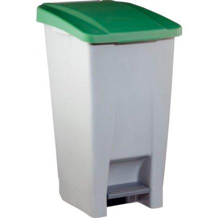 Odpadkový koš nášlapný Gastro 60 l, šedá/zelená