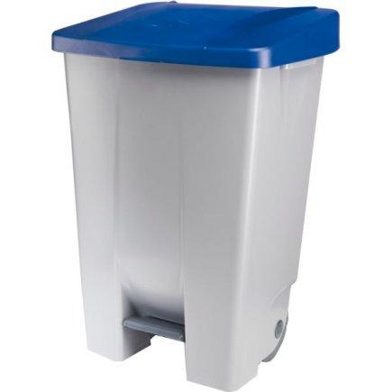 Odpadkový koš nášlapný Gastro 80 l, šedá/modrá