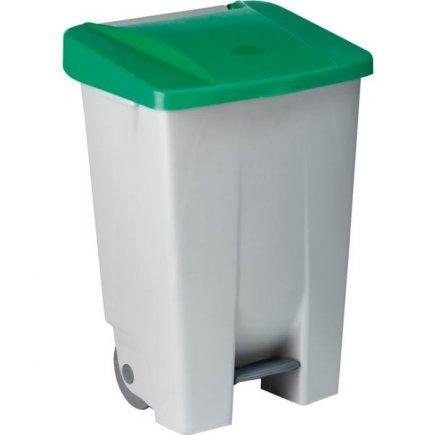 Odpadkový koš nášlapný Gastro 80 l, šedá/zelená