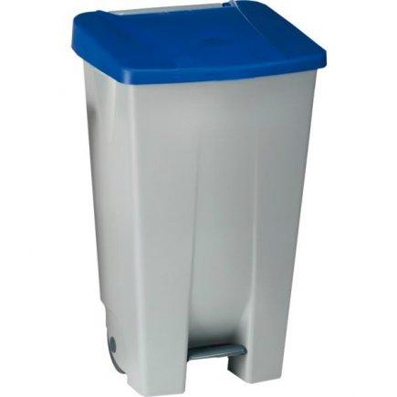 Odpadkový koš nášlapný Gastro 120 l, šedá/modrá