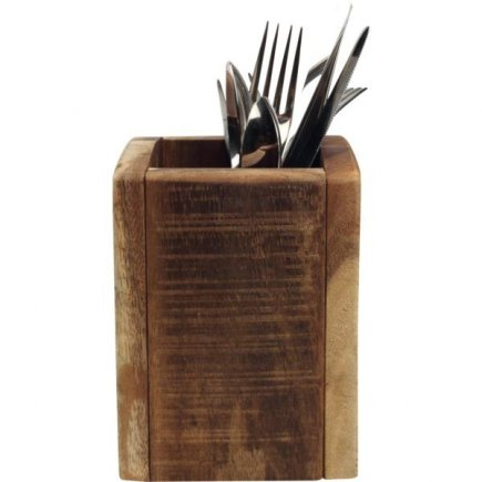 Příborník dřevěný 11x11x15 cm, natural
