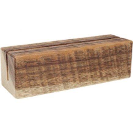 Stojan na menu kartu dřevěný Gastro 12x4x4x cm, natural