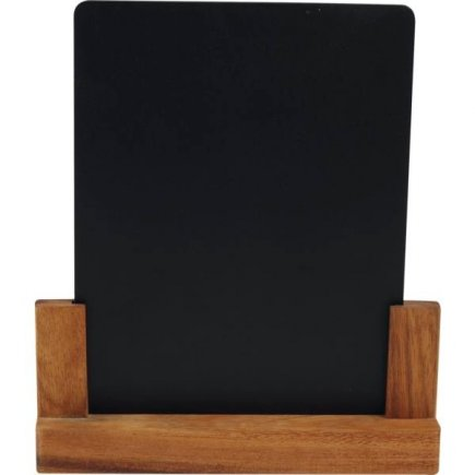 Stojánek na stůl akátové dřevo 21x4,5x24 cm, velikost A5