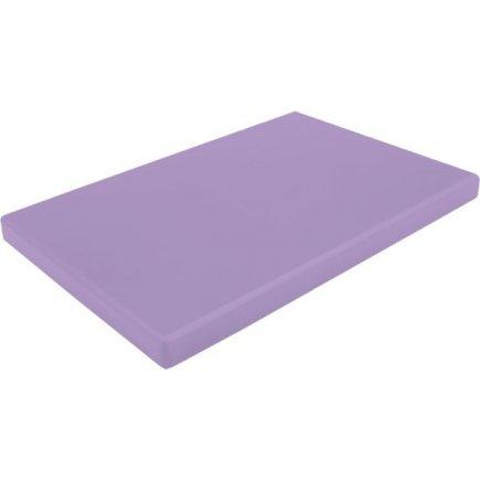 Prkénko krájecí plastové 53x32,5x2 cm GN 1/1, s drážkou, fialové