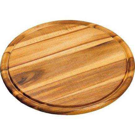 Prkénko kulaté s drážkou Kesper 30 cm, akátové dřevo