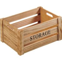 Bedýnka dřevěná Kesper Storage 30,5x20,5x16 cm, natur