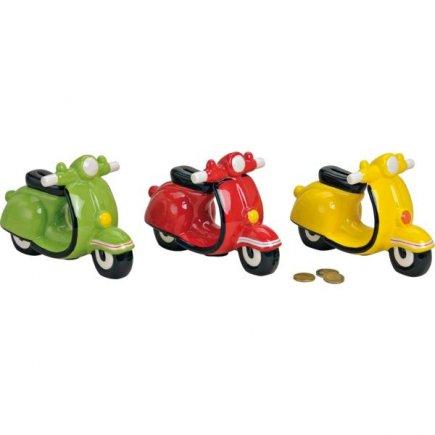 Pokladnička keramická Motorka, různé barvy