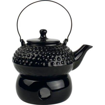 Konvice čajová s ohřívačem Gastro, černá