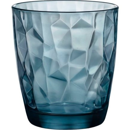 Sklenice na vodu Bormioli Rocco Diamond 305 ml, modrá