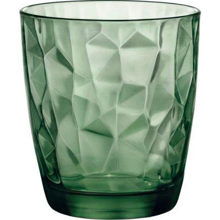 Sklenice na vodu Bormioli Rocco Diamond 305 ml, zelená
