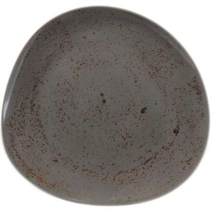 Talíř mělký asymetrický Schönwald Pottery 22 cm, tmavě šedá