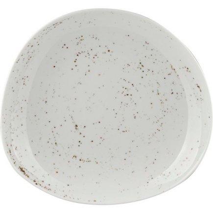 Talíř hluboký asymetrický Schönwald Pottery 28 cm, bílý