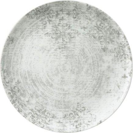 Talíř mělký Schönwald Shabby Chic 28 cm, šedý, dekor 63071