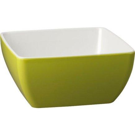 Mísa melamin APS Pure 3,8 l, zeleno-bílá