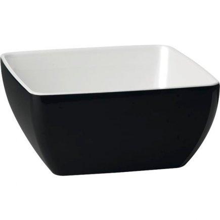 Mísa melamin APS Pure 3,8 l, černo-bílá