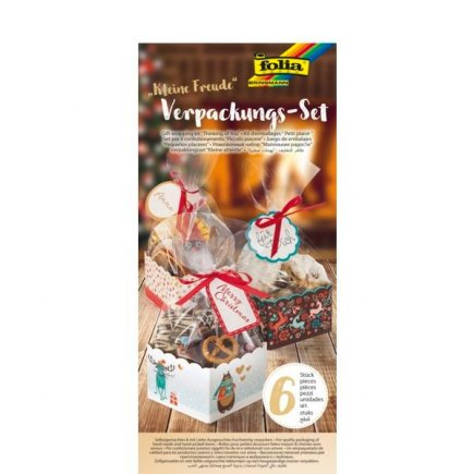 Dekorativní krabičky na cukroví Vánoce set 6 ks