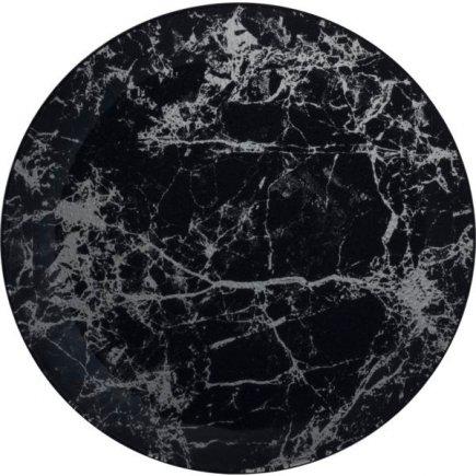 Talíř skleněný Gastro Black Marble 30 cm