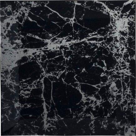 Talíř skleněný Gastro Black Marble 25x25 cm