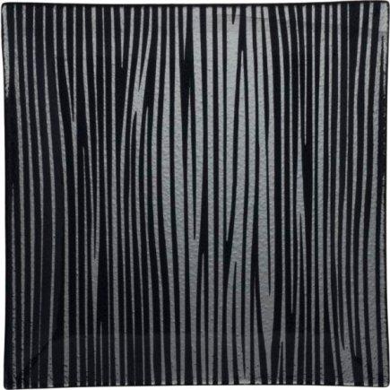 Talíř skleněný Gastro Black Line 25x25 cm
