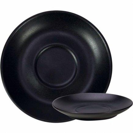 Podšálek keramický Gusta 14 cm, černý