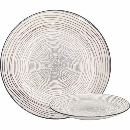 Talíř mělký Gusta Table Tales 26,5 cm, dekor vír