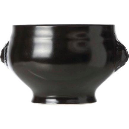 Miska na polévku lví hlava Cosy&Trendy Vongola 450 ml, černá