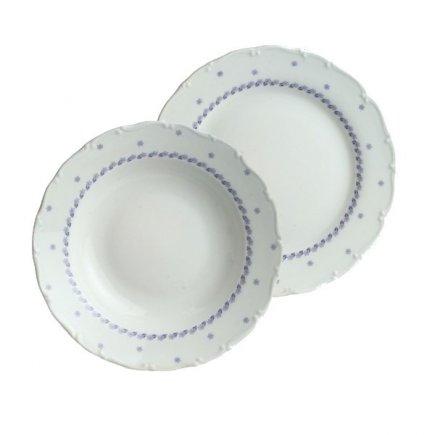 Sada talířů 12-dílná Ofelie modrá